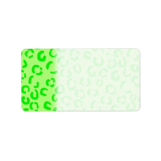 Lime Green Leopard Print Pattern. Label