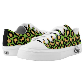 Lime Green Leopard Print Printed Shoes