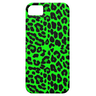 Lime green  Leopard Print Punk Goth iPhone 5 Covers