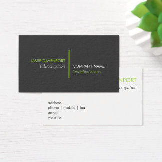 Lime Green Line Business Card