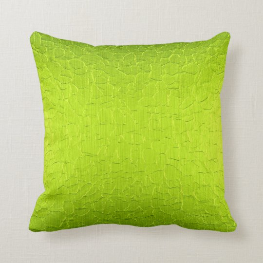 Lime Green Modern Abstract Background Cushion