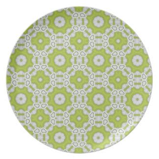 Lime Green Moorish Pattern Plate