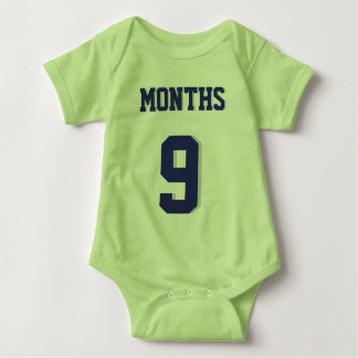 Lime Green & Navy Baby | Sports Jersey Design T-shirts