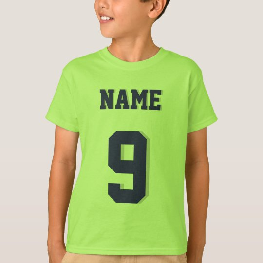Lime Green & Navy Kids | Sports Jersey