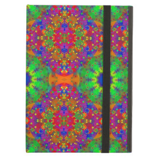 Lime Green Orange and Purple Stars Mandala iPad Air Cover
