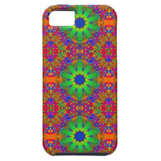 Lime Green Orange and Purple Stars Mandala Tough iPhone 5 Case