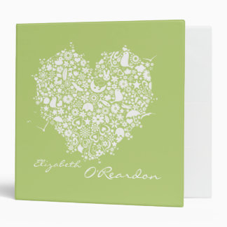 Lime Green Personalized Name Clippings Binder