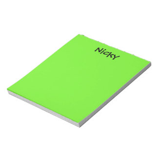 Lime Green Personalized Notepad