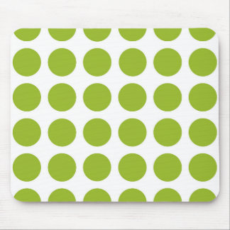 Lime Green Polka Dots Mousepad