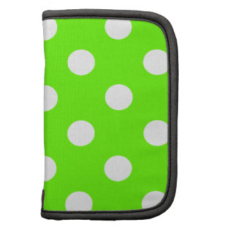 Lime green polka dots nail design for the spring organizers