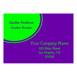 Lime Green Purple Circle Pack Of Chubby Business Cards