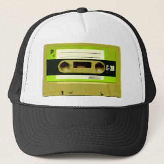 Lime Green Retro Cassette Tape Trucker Hat