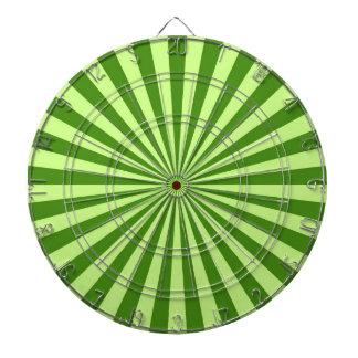 lime green retro funky sun stripes dartboard