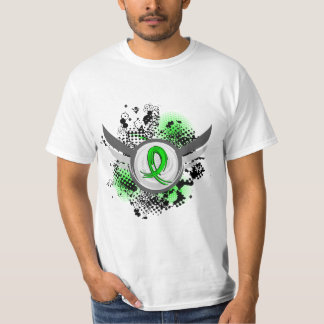 Lime Green Ribbon And Wings Muscular Dystrophy T-Shirt