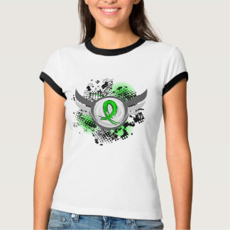 Lime Green Ribbon And Wings Muscular Dystrophy Shirts