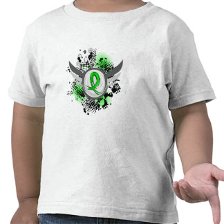 Lime Green Ribbon And Wings Muscular Dystrophy Tshirt