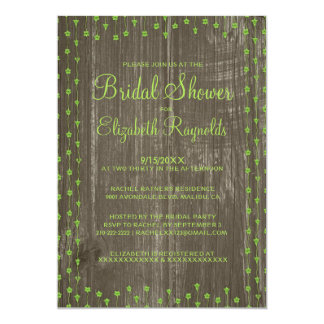 Lime Green Rustic Country Bridal Shower Invitation