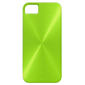 Lime Green Shiny Stainless Steel Metal Barely There iPhone 5 Case
