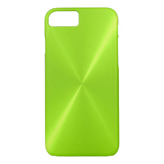 Lime Green Shiny Stainless Steel Metal iPhone 8/7 Case