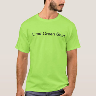 Lime Green Shirt
