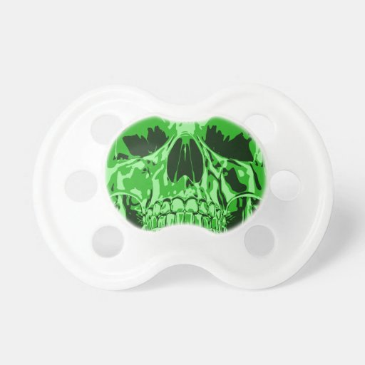 Lime Green - Skull Baby Pacifier