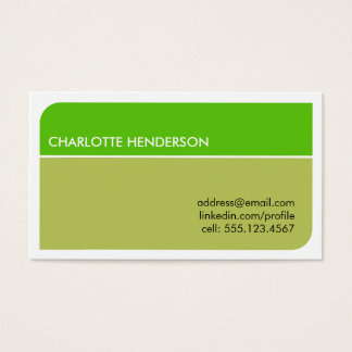 Lime green smart student employment resume card
