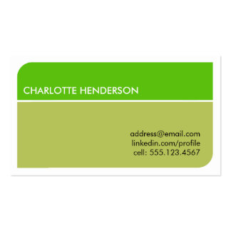 Lime green smart student employment resume card pack of standard business cards