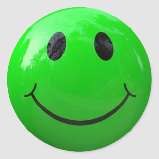 Lime Green Smiley Face Stickers