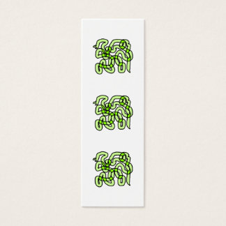 Lime Green Snake. Mini Business Card