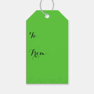 Lime Green Solid Color Gift Tags