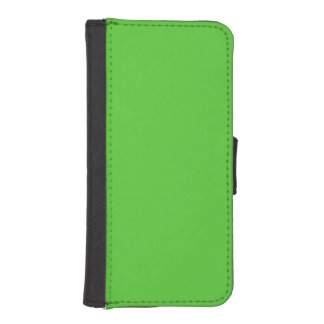 Lime Green Solid Color iPhone 5 Wallet