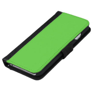Lime Green Solid Color iPhone 6 Wallet Case