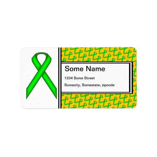 Lime Green Standard Ribbon Label