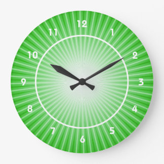 Lime Green Starburst Design Wall Clock