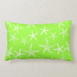Lime Green Starfish Decorative Lumbar Pillow