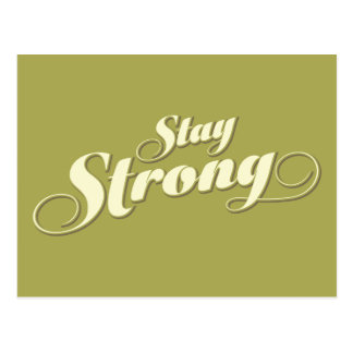 Lime Green Stay Strong Encouraging Quote Postcard