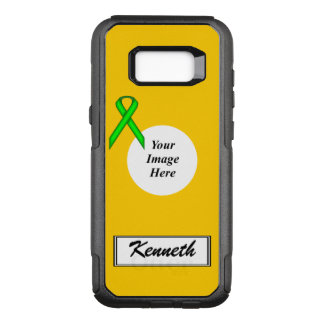 Lime Green Stnd Ribbon Template by Kenneth Yoncich OtterBox Commuter Samsung Galaxy S8+ Case