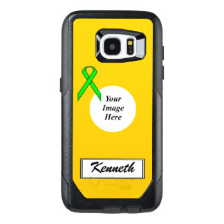 Lime Green Stnd Ribbon Template by Kenneth Yoncich OtterBox Samsung Galaxy S7 Edge Case