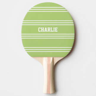 Lime Green Stripes custom monogram paddle