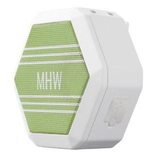 Lime Green Stripes custom monogram speakers
