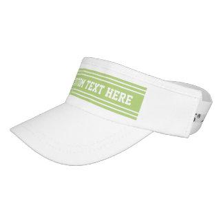 Lime Green Stripes custom text visor