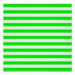 Lime Green Stripes Poster