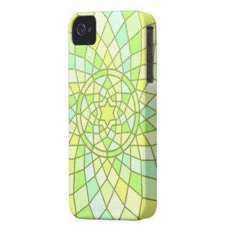 Lime green sunny yellow Spring Renewal Mandala Blackberry Case