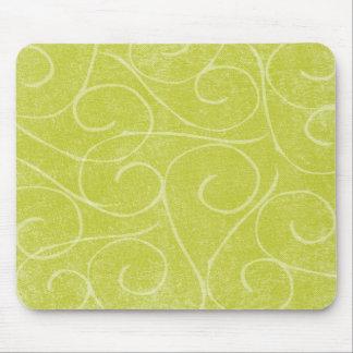 Lime Green Swirls Mouse Mat