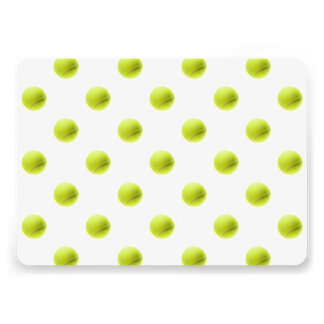 Lime Green Tennis Balls Background Ball 13 Cm X 18 Cm Invitation Card
