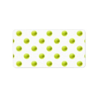 Lime Green Tennis Balls Background Ball Address Label