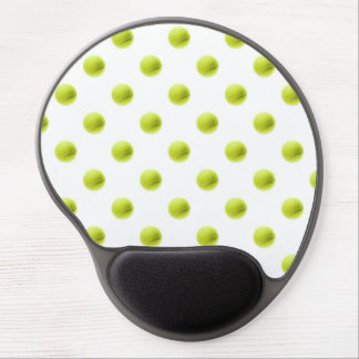 Lime Green Tennis Balls Background Ball Gel Mouse Pad