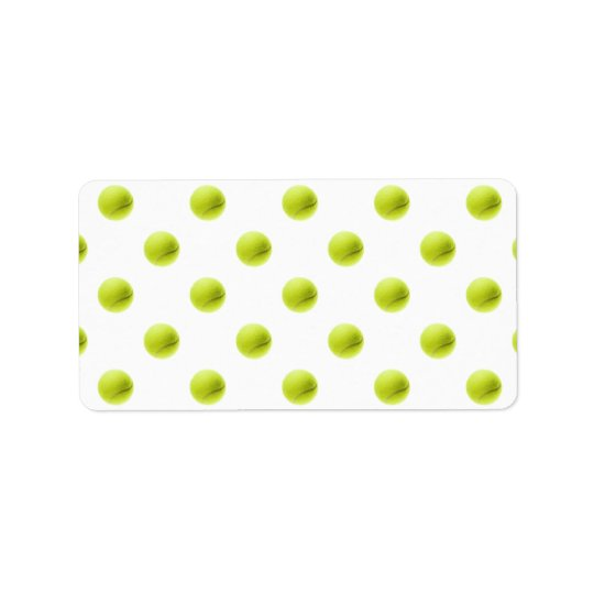 Lime Green Tennis Balls Background Ball Label
