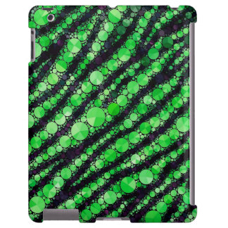 Lime Green Tiger Bling iPad Case