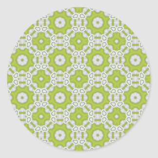 lime green tile round sticker
